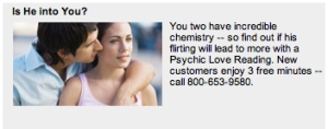 Will his flirting lead to more?  Only a psychic could tell!